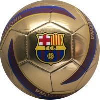 Minge FC Barcelona Logo Gold marimea 5 metalica
