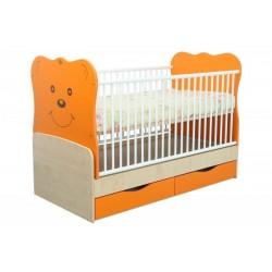 Patut transformabil MyKids Teddy Natur-Orange 4837