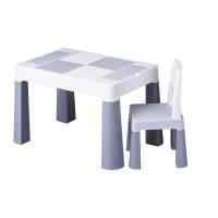 Set masuta cu scaun Tega Lego Multifun Gri