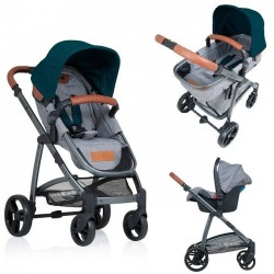 Carucior Kiddo Jazz 3 in 1 Transformabil Emerald