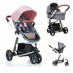 Carucior Kiddo Juke 3 in 1 Deluxe Rose