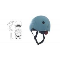 Casca de protectie pentru copii cu sistem de reglare Scoot and Ride Blueberry S-M