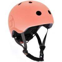 Casca de protectie pentru copii cu sistem de reglare Scoot and Ride Peach S-M