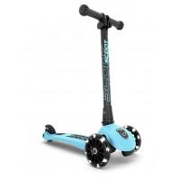 Trotineta copii pliabila cu roti luminoase Scoot and Ride HighwayKick 3 Blueberry