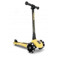 Trotineta copii pliabila cu roti luminoase Scoot & Ride HighwayKick 3 Lemon 3-6 ani