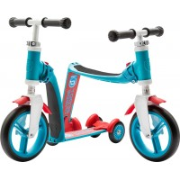 Trotineta copii transformabila 2 in 1 Scoot and Ride HighwayBaby+ Albastru/Rosu