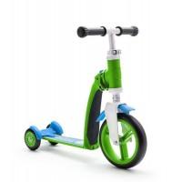 Trotineta copii transformabila 2 in 1 Scoot and Ride HighwayBaby+ Verde/Albastru