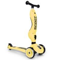Trotineta copii transformabila 2 in 1 Scoot and Ride HighwayKick 1 Lemon