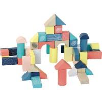 54 cuburi multicolore din lemn Vilac