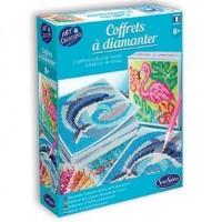 Kit creativ cu diamante - Delfin si Flamingo