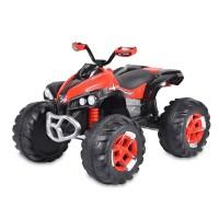 ATV electric cu telecomanda si 2 motoare 12V Off-Road Rosu