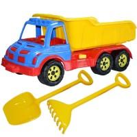 Camion 60 cm cu lopata si grebla galben
