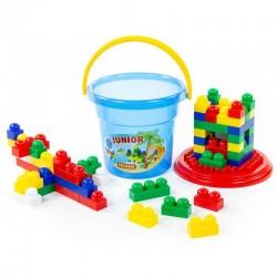 Cuburi constructie Junior 57 piese in galetusa Polesie
