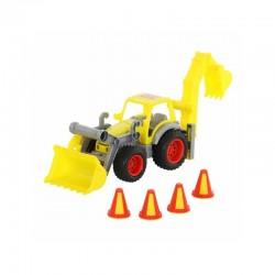Excavator cu incarcator - ConsTruck, 38x16x22 cm, Wader