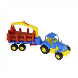 Tractor Hardy cu remorca si lemne 47 cm Polesie