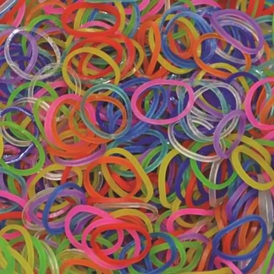 Elastice Rainbow Loom - Jelly Albastru