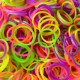 Elastice Rainbow Loom - Neon Galben