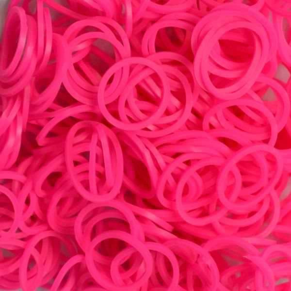 Elastice Rainbow Loom - Neon Roz