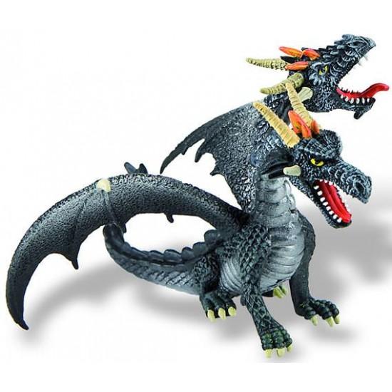 Figurina - Dragon negru cu 2 capete