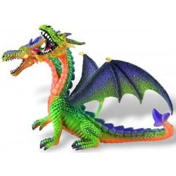 Figurina - Dragon verde cu 2 capete