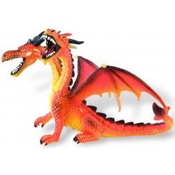 Figurina - Dragon portocaliu cu 2 capete
