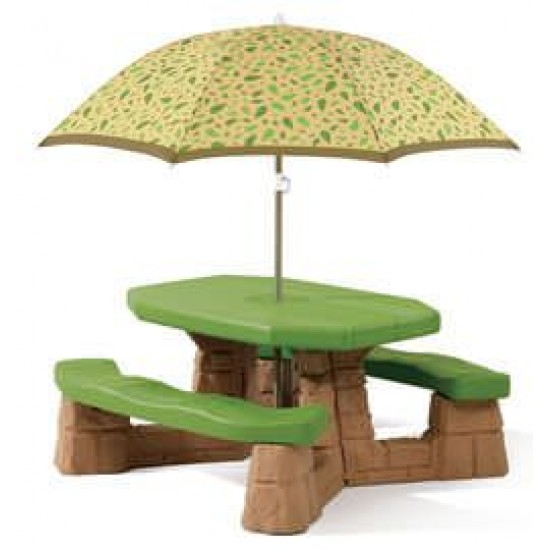 Masa picnic cu umbrela - Varianta Recolor - STEP2