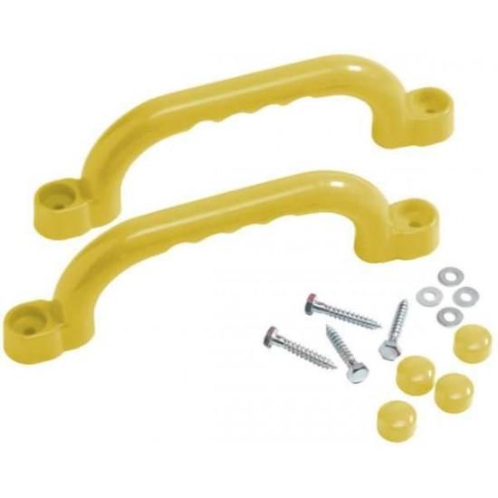 Manere din plastic 25 cm - Galbene