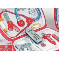 Trusa de doctor cu telefon mobil - Klein
