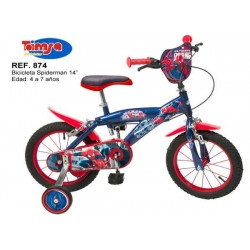 Bicicleta 14 Spiderman - Toimsa
