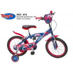 Bicicleta 16 - Spiderman