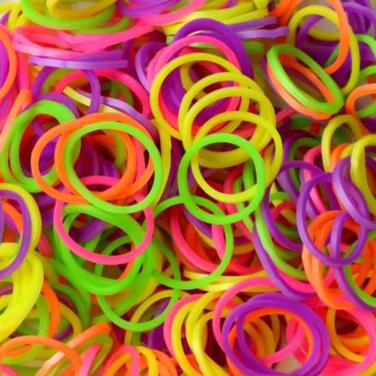 Elastice Rainbow Loom - Neon Mix