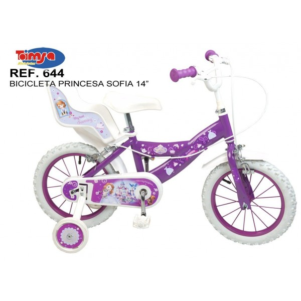 Bicicleta 14 Sofia the First - Toimsa