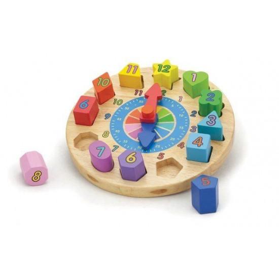 Puzzle din lemn - Ceas