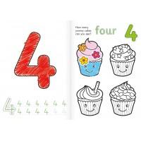 Carte de colorat cu activitati in limba engleza si abtibilduri - Numerele
