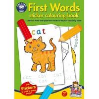 Carte de colorat cu activitati in limba engleza si abtibilduri - Primele cuvinte
