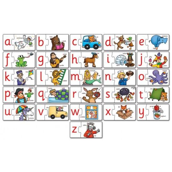 Puzzle in limba engleza - Invata alfabetul prin asociere