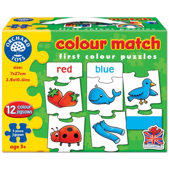 Puzzle in limba engleza - Invata culorile prin asociere