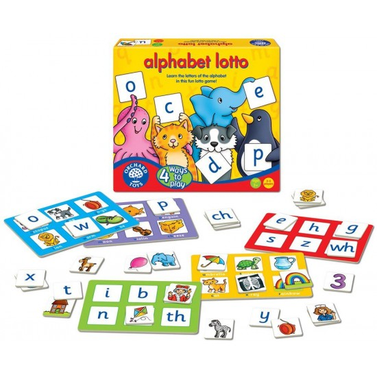 Joc educativ loto in limba engleza - Alfabetul