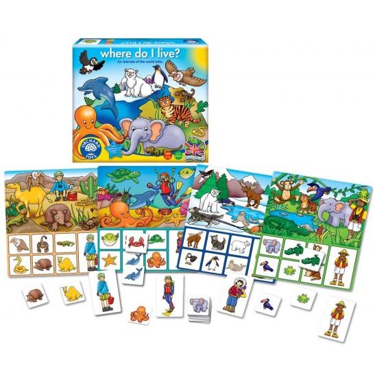 Joc educativ loto - Habitate