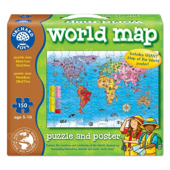 Puzzle si poster - Harta lumii