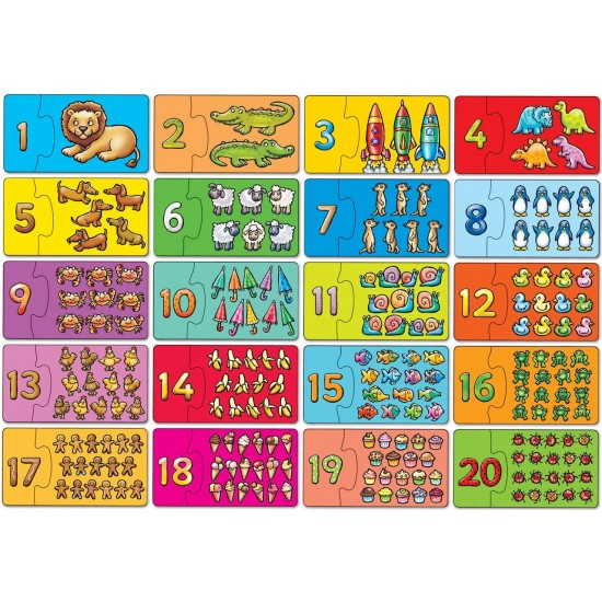 Puzzle - Potriveste si numara de la 1 la 20