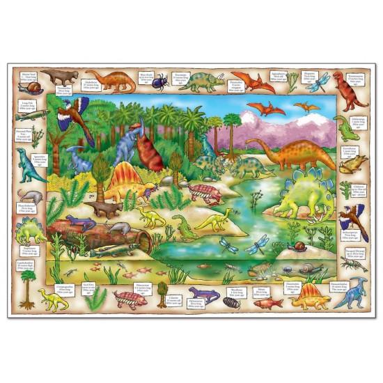 Puzzle in limba engleza - Lumea dinozaurilor