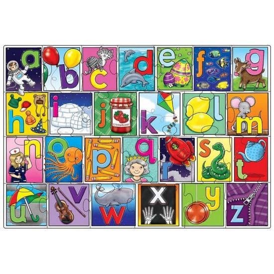 Puzzle in limba engleza - Invata alfabetul