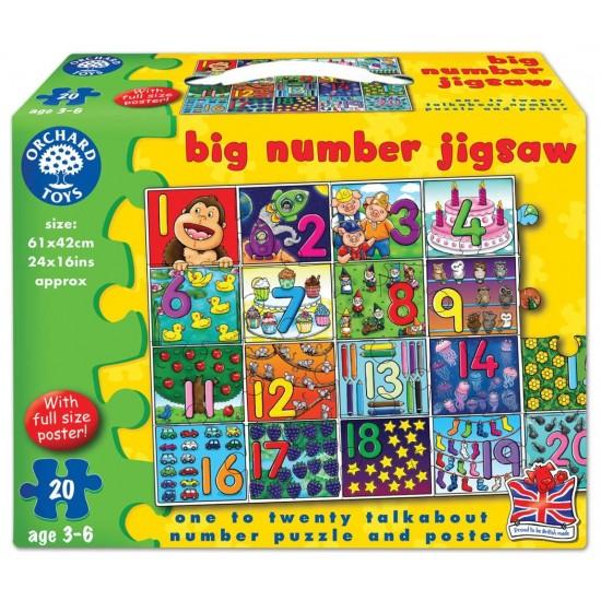 Puzzle - Invata numerele de la 1 la 20