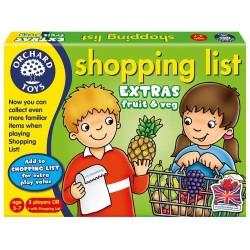 Joc educativ in limba engleza - Lista de cumparaturi - Fructe si legume