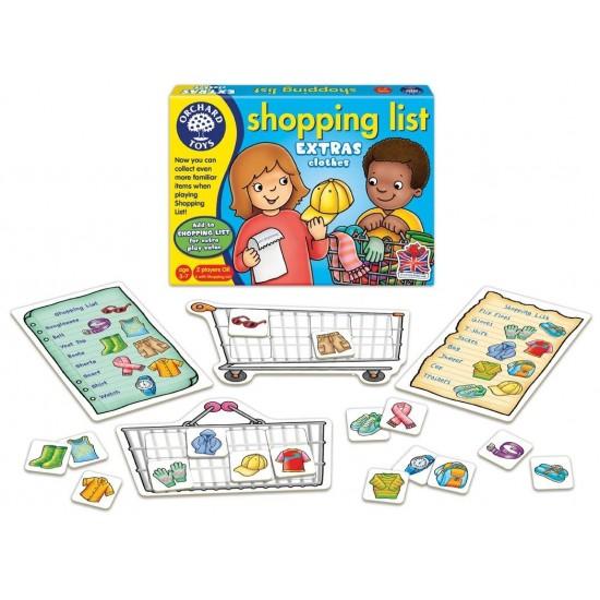 Joc educativ in limba engleza - Lista de cumparaturi - Haine