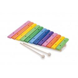 Xilofon Lemn - 12 note colorate
