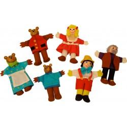 Pinochio si cei trei ursuleti – Papusi degetar