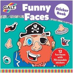 Carte cu abtibilduri - Funny Faces