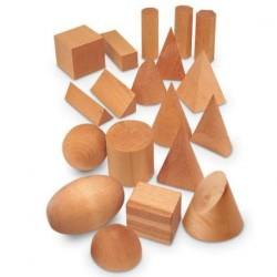 Set 19 forme geometrice din lemn